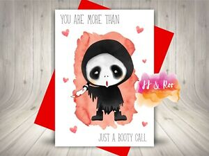 Funny Horror Movie Themed Valentine's Day Card, Scream, Ghost Face