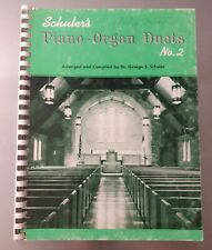 1963 Schuler's Piano Organ Church Duets Song Book Number 2