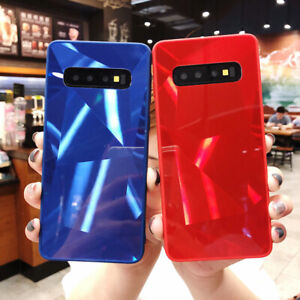 Mirror Texture Phone Case For Samsung Galaxy S10 A50/70 Luxury Back Cover Glossy