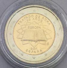 Pièce 2 euros 2007 Traité de Rome Espagne sous capsule