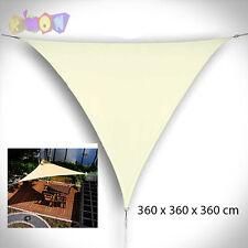 9324 Excelente toldo vela triangular - 3,6 x 3,6 x 3,6 m - color Beige