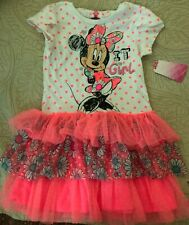 Girls Minnie Mouse Neon Dress Size 5T NWT