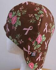Breast Cancer BR Handmade 100% cotton, Welding, Biker, pipefitter,4 panel hat