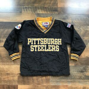 Vintage 90's Pittsburgh Steelers Champion Windbreaker Jacket Youth Boys Medium