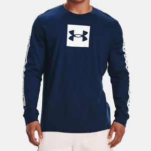 Under Armour Men's UA Camo Boxed Sportstyle Long Sleeve T Shirt. Academy/White
