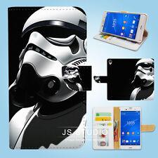 Sony Xperia Z2 Z3 Flip Wallet Case Cover Star Wars Stormtrooper W071