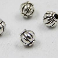 100Pcs/Lot Charms Zinc Alloy Antique Silver Beads Spacer DIY Bracelets Findings