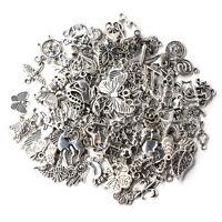 Wholesale 100pcs Bulk Lots Tibetan Silver Mix Charm Pendants Jewelry DIY Chic UK