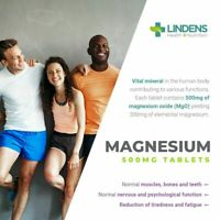 Magnesium MgO 500mg Tablets 90 pack reduction of Cramps Tiredness and Fatigue