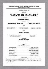"Kathleen Nolan ""LOVE IN E-FLAT"" Hal Buckley 1967 FLOP New Haven Tryout Broadside"