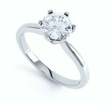 0.50 Carat Round Diamond 6 Claw Set Solitaire Engagement Ring, White Gold