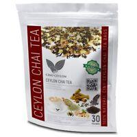Masala Chai Tea Herbal Drink Organic Herbals 30 BAGS Burns Fat superior quality