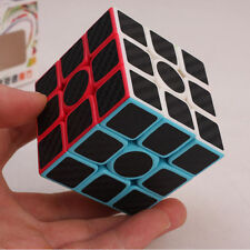 Puzzle Cube 3x3x3 Carbon Fiber Sticker Cube Speed Smooth Magic Cube Black Frame