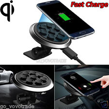 Qi Wireless Car Charger Transmitter Stand Holder Fast Charging for Samsung HTC