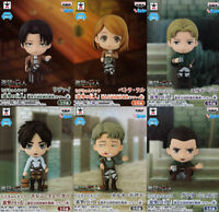 Attack on Titan Chini Kyun Chara Levi group all 6 set figure Eren petra JAPAN