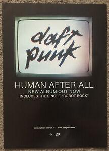DAFT PUNK - HUMAN AFTER ALL 2005 Full page UK magazine ad