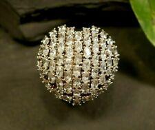 Gigantischer 925 Silber Ring Herz Zirkonia Arezzo Massiv Schwer Statement Liebe
