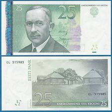 Estonia 25 Krooni P 87 2007 UNC Low Shipping! Combine FREE!