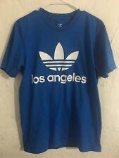 adidas Original Trefoil Los Angeles Blue Graphic T-Shirt Sz Medium Mens BJ6776