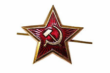 Genuine Russian Army Soviet Large Red Star Badge for Ushanka Trapper Beret Hat