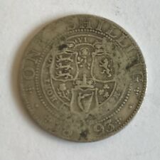 Antique Victoria Victorian Silver 1893 One Shilling Coin