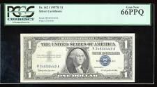 AC 1957B $1 Silver Certificate PCGS 66 PPQ Fr 1621 GEM!