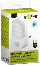 Goobay LED Nachtlicht mit Infrarot Bewegungsmelder für Steckdose Orientierungslicht
