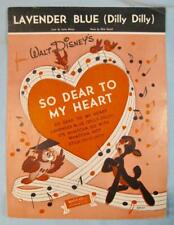 Lavender Blue Dilly Dilly Sheet Music Vintage 1948 Disney So Dear To My Heart O