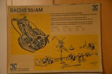 schönes Plakat Sachs 50 / AM Motor Werkstattplakat Wandtafel 80 x 60cm
