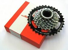 SUNRACE HQ 8 Speed Chrome Plated 13 T - 32 Teeth Screw on Freewheel Shimano Comp