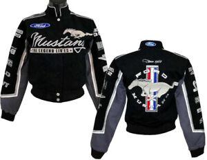Gals Mustang Multi-Logo Jacket in Black * CUTE * Last Ones in 2X & 3X. Free Ship