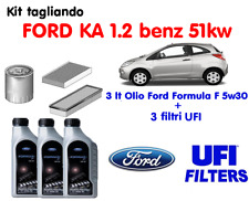 KIT TAGLIANDO FILTRI UFI + 3 LT OLIO FORD 5W30 KA 1.2 BENZINA