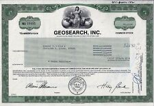 Geosearch Inc., New York, 1983 (3.000 Shares)