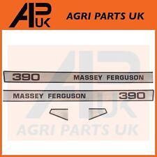 Massey Ferguson 390 Tractor Bonnet lado Calcomanía Pegatinas Transferencias Set Kit