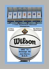 UNC TARHEELS 2016-17 NCAA FINAL 4 CHAMPIONS BANNERS & COMMEMORATIVE MATTED PIC