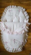Baby's Cosy toes/saco 3 en 1 en rosa con cinta rosa de Gasa plata guarnecido