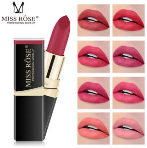 Miss Rose 3D Matte Lipstick Colors Moisturizer Smooth Long Lasting Waterproof