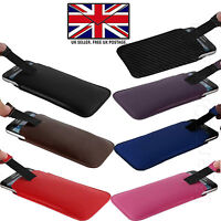 PU Leather Slim Thin Pull Tab Phone Case Cover Slip Sleeve For LG Handsets