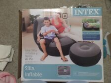 INflatable Chair and Ottoman, by Intex, Indoor/Outdoor, New in Box