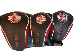 Boston Red Sox Golf Club Head Covers Set of 3 Mcarthur Towel and Sports