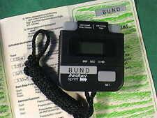 Cronometro hanhart SPRINT BW cronometri 1/100 addizione STOPPER German Stopwatch L