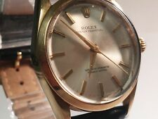 Rolex Men's Oyster Perpetual 1560 cal watch wrist, pre-o, working, AlfaUSA band