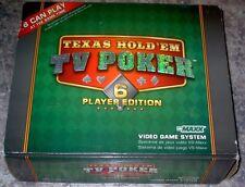 vsMAXX Video Game System Texas Hold'Em TV Poker 6 Player Edition