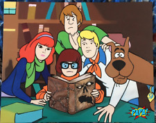 Scooby Doo Gang Reading the Necronomicon (Evil Dead book) pop art by Papa