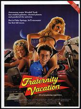 FRATERNITY VACATION__Original 1985 Trade print AD / poster__BARBARA CRAMPTON