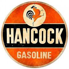 Hancock Gasoline round steel sign   360mm diameter  (pst 14)