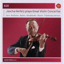 JASCHA HEIFETZ - J. H. PLAYS GREAT VIOLIN CONCERTOS 6 CD BACH,MOZART UVM NEW+