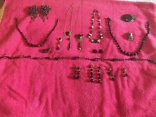 Antique Victorian MOURNING?? BLACK JET?? Jewelry Lot