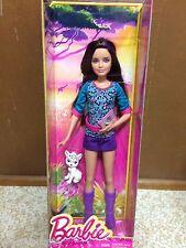 Barbie Sister Teen Skipper Brunette Purple Highlight Hair Streaks Safari Doll