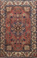 Floral Antique Medallion Traditional Area Rug Hand-Knotted Oriental Carpet 5x7
